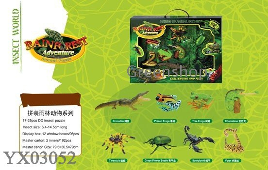 Assembly rainforest animals series insect world 3D animal puzzles ...