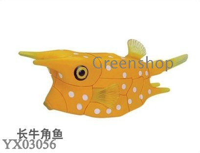 Coral fish animal puzzles DIY toys 3D animal puzzles assembling Coral ...
