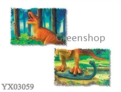 ... 3D animal puzzles dino diorama set DIY toys Assembly prehistoric world