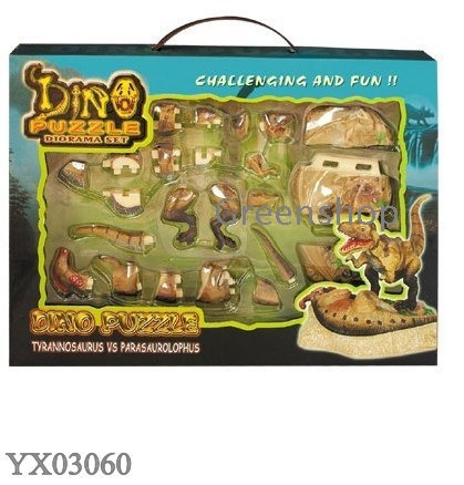 3D animal puzzles dino diorama set DIY toys Assembly prehistoric world ...