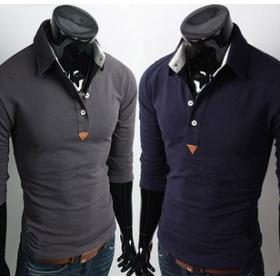 Slim  shirt with design men's  shirt 5953