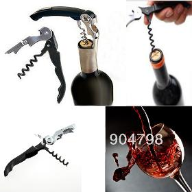 1pcs Stainless Steel Metal Cork Screw Multi-Function Red Wine Bottle Cap Opener Worldwide FreeShipping