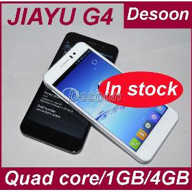 Free Shipping In stock Jiayu G4T Cell Phones Android 4.2 3000mah MTK6589T 1.5Ghz 1GB 4GB Rom black white smartphone