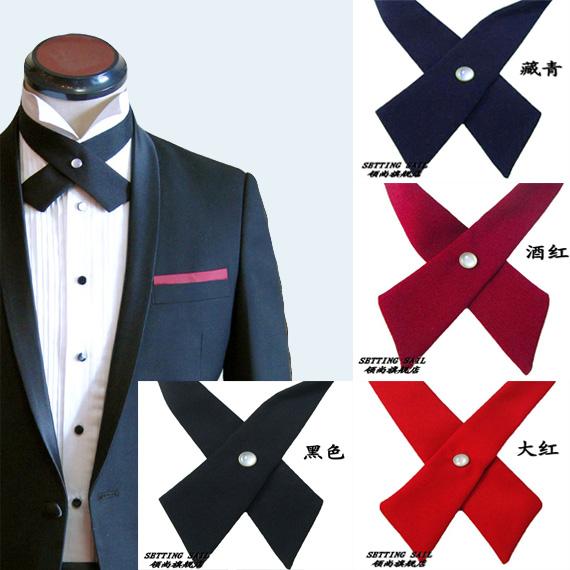 Fashion cross bow tie male married shirt collar