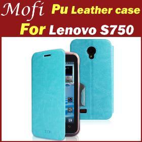 Four color flip mofi leather case for Lenovo S750 Flip case , Book case, Protective case
