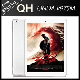 9.7 inch Onda V975m Bluetooth tablet pc Amlogic M802 Quad Core Dual Camera Retina Screen 2048x1536px 64bit 2GB 32GB