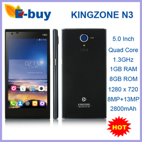 KINGZONE N3 4G LTE Cell Phones MTK6582 +6590 Quad Core 5'' Android 4.4 Corning Gorilla Glass IPS 1280*720 13MP Mobile