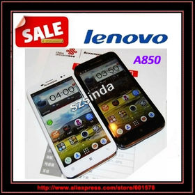 Free shipping Lenovo phone A850 MT6582m Quad Core 5.5inch IPS Android 4.2 1GB/4GB Russian language 3G Cell phone / Anna