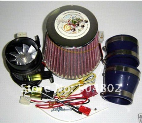 5000 Electric Supercharger Turbocharger Kit Metal Wheel Two Motor 330whigh Quality