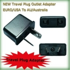 [Free shipping] 100pcs/lot NEW Travel Outlet Adapter EURO/USA To AU/Australia Universal AC Power Plug Charger