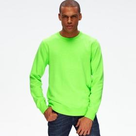VANCL Neon Culture Crew Neck Pullover (Men) Lime SKU:186363