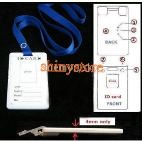 Wholesale 2PC*4GB Surveilance ID Card DVR Pinhole Spy Camera Recorder Spy Camera ID Card  -free shipping-shinystore