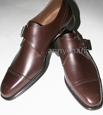Új érkezés férfi ruha cipő kézzel készített cipő szerzetes szíj oxford cipő  valódi bőr HD- ... 43eadac347