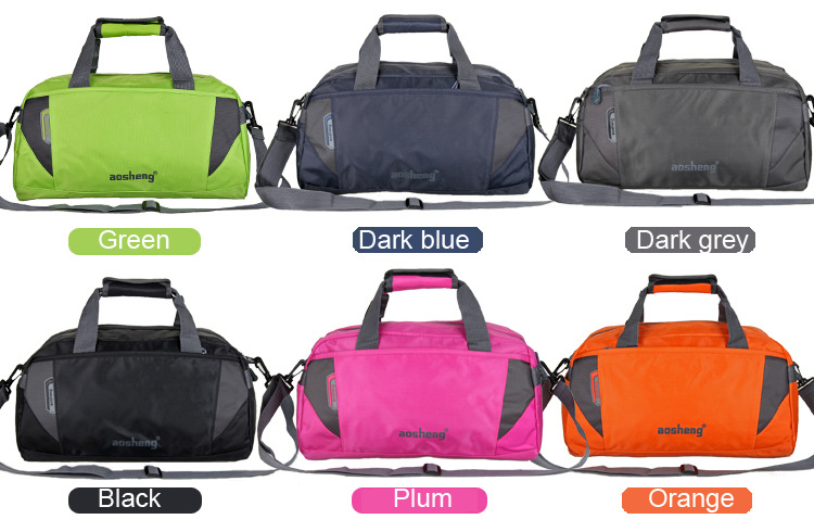 6 Colors Stylish Men Gym Luggage Bags Women Travel Duffle With Removable Strap And Handband