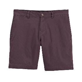 VANCL Terence Solid Cotton Shorts (Men) Dark Red SKU:196754
