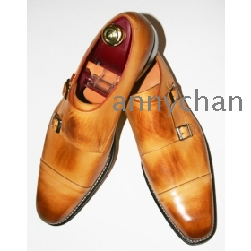 new arrival men's dress shoes handmade shoes monk strap ox shoes