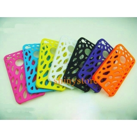 500PCS*4G Perf Snap  Case With A Hole For Logo Back Case Cover For 4 4G