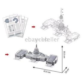 - 3D Puzzle Cubic Fun Capitol Architecture DIY Paper Toy 30 pcs a lot