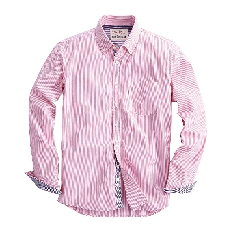 mens pink striped shirt is shirt