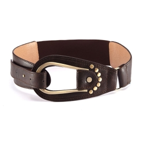 VANCL Maria Egg Buckle Fashion Belt Brown SKU:175822