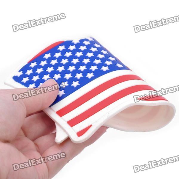 Us National Flag Style Vehicle Car Silicone Anti