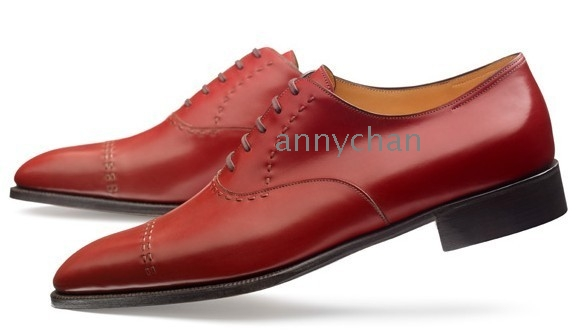 New Fashion Brand Nubuck Leather Pointed Toe Men Oxford England Style Red Color Dress Wedding Shoes Drop Shipping