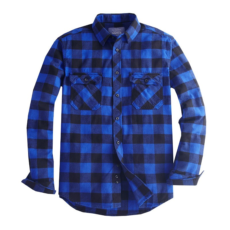 Black Plaid Flannel Shirt For Men Pictures to Pin on Pinterest ...
