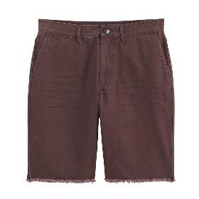 VANCL Glenn Solid Cotton Shorts (Men) Dark Red SKU:199706