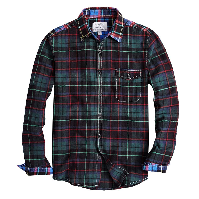 vancl conway plaid flannel shirt men blue black wholesale vancl conway plaid flannel shirt. Black Bedroom Furniture Sets. Home Design Ideas