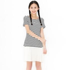 VANCL Aubrey Color Block Dress (Women) Black/White SKU:194315