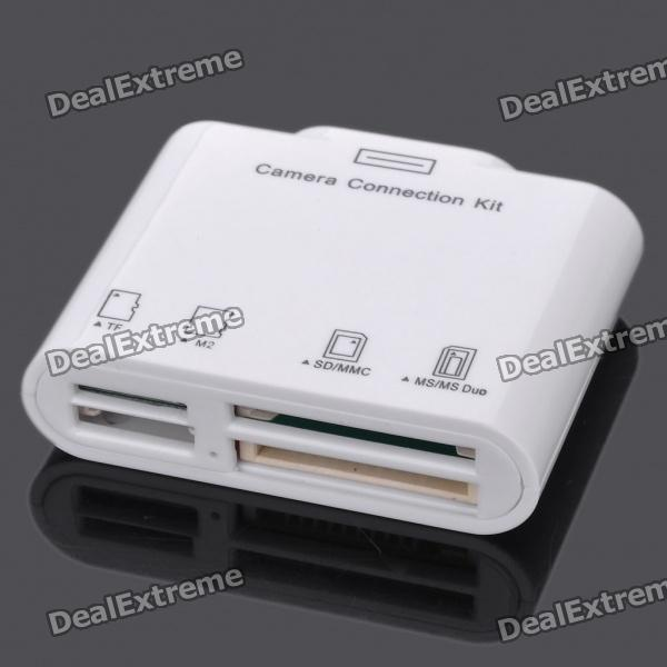 TF/M2/SD/MMC/MS/MS DUO Memory Card Reader for /iPad 2 - White SKU