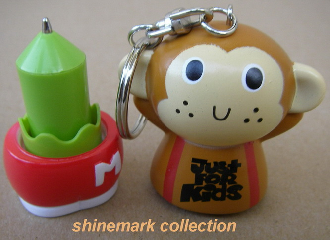 funny monkey key chain ball point pen xmas gift ...