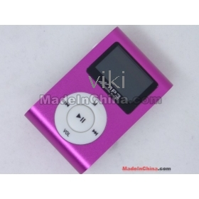 1pcs 2nd Fashion Design OLED clip 4GB MP3 Player With FM Function 5 Color by china post