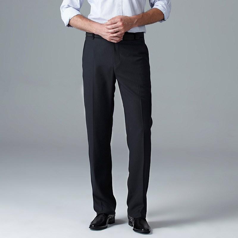 navy dress pants men - Pi Pants
