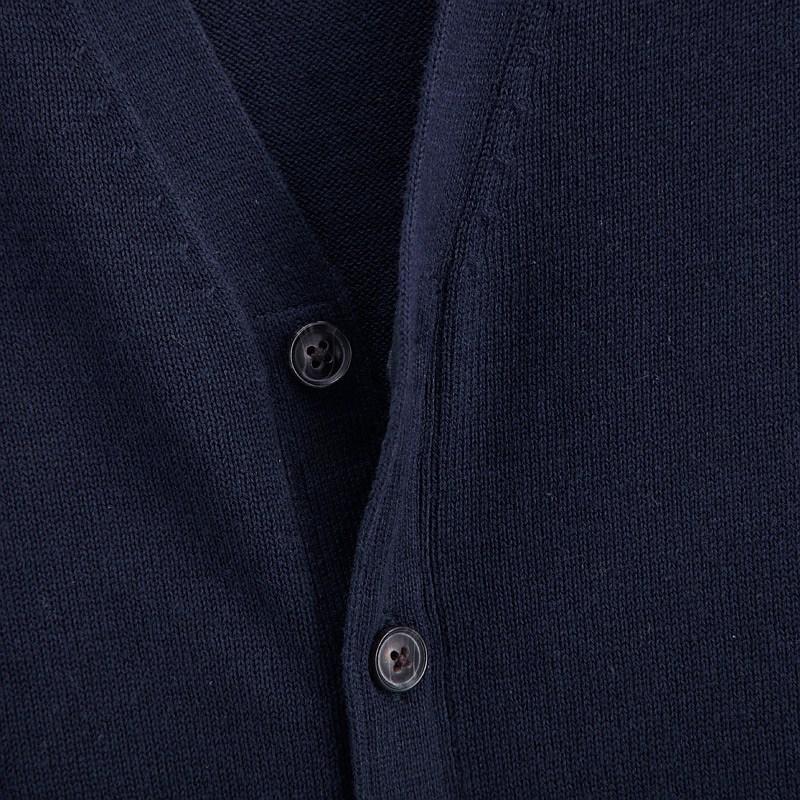 VANCL Jack V Neck Knit Cardigan Men Navy Blue SKU – Wholesale ...