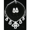 Wedding  Jewerly Set -- Perfect Pearl Necklace ,Earring , diamond necklace with best hot sell free shipping Y92