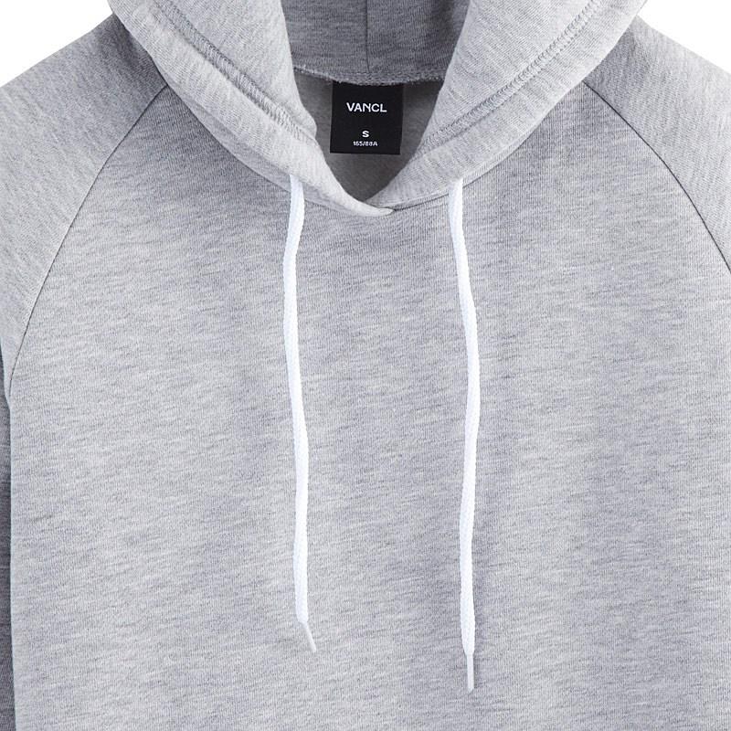 efa2269da62a91 VANCL Plain Longline Pullover Hoodie s Gray SKU – Wholesale VANCL .