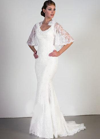 Slim white sexy mermaid trumpet satin long sleeve for Long sleeve slim wedding dresses
