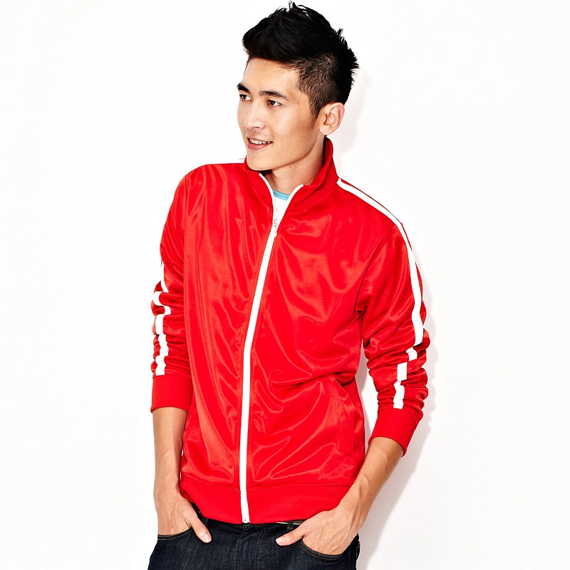VANCL Vencel Contrast Stripe Sports Jacket Men Red – Wholesale ...