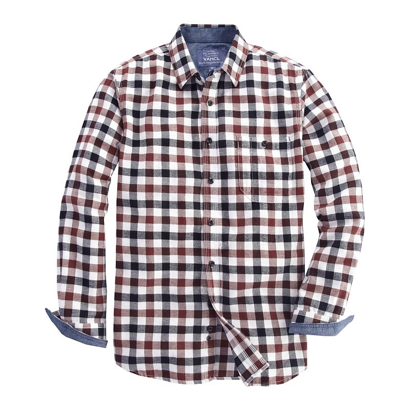 Red and white plaid shirt mens artee shirt for White flannel shirt mens
