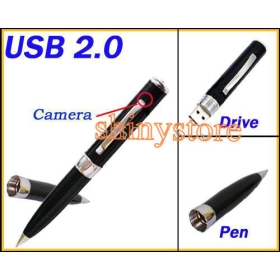Wholesale- 4G MP9 Hidden Spy Camer Camcorder Microphone Drive Pen DVR Cam Video Camera -free shipping-shinystore