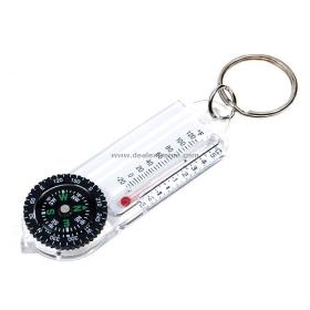 (Csak Nagykereskedelmi) Iránytű kulcstartó hőmérő SKU: 7971