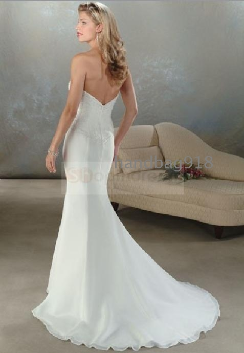 Silk Mermaid Wedding Dresses Silk Fitted Wedding Dress
