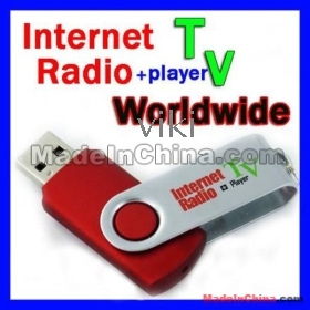 20%off China Post 2pcs TV USB Worldwide Internet Radio Recorder TV Player Supported thousands of TV and Radio Search Freeshipping