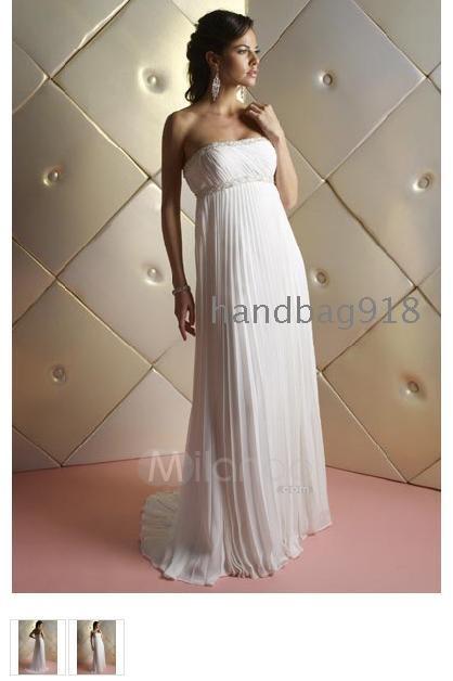 Vállnélküli Empire Derék Chiffon szatén koszorúslány ruhák   estélyi ruha    esküvői ruha a menyasszony ... 3ced2d4308