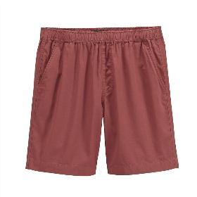 VANCL Johnny Solid Casual Shorts (Men) Red SKU:193523