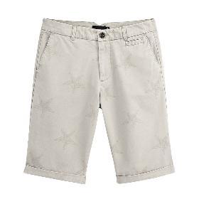 VANCL Brad Star Prints Shorts (Men) Khaki SKU:193580