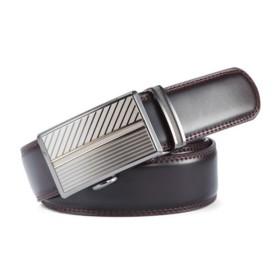 VANCL Plate Buckle Leather Belt (Men) Brown SKU:742848