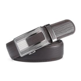VANCL Gary Elegant Business Plate Buckle Belt (Men) Brown SKU:742885