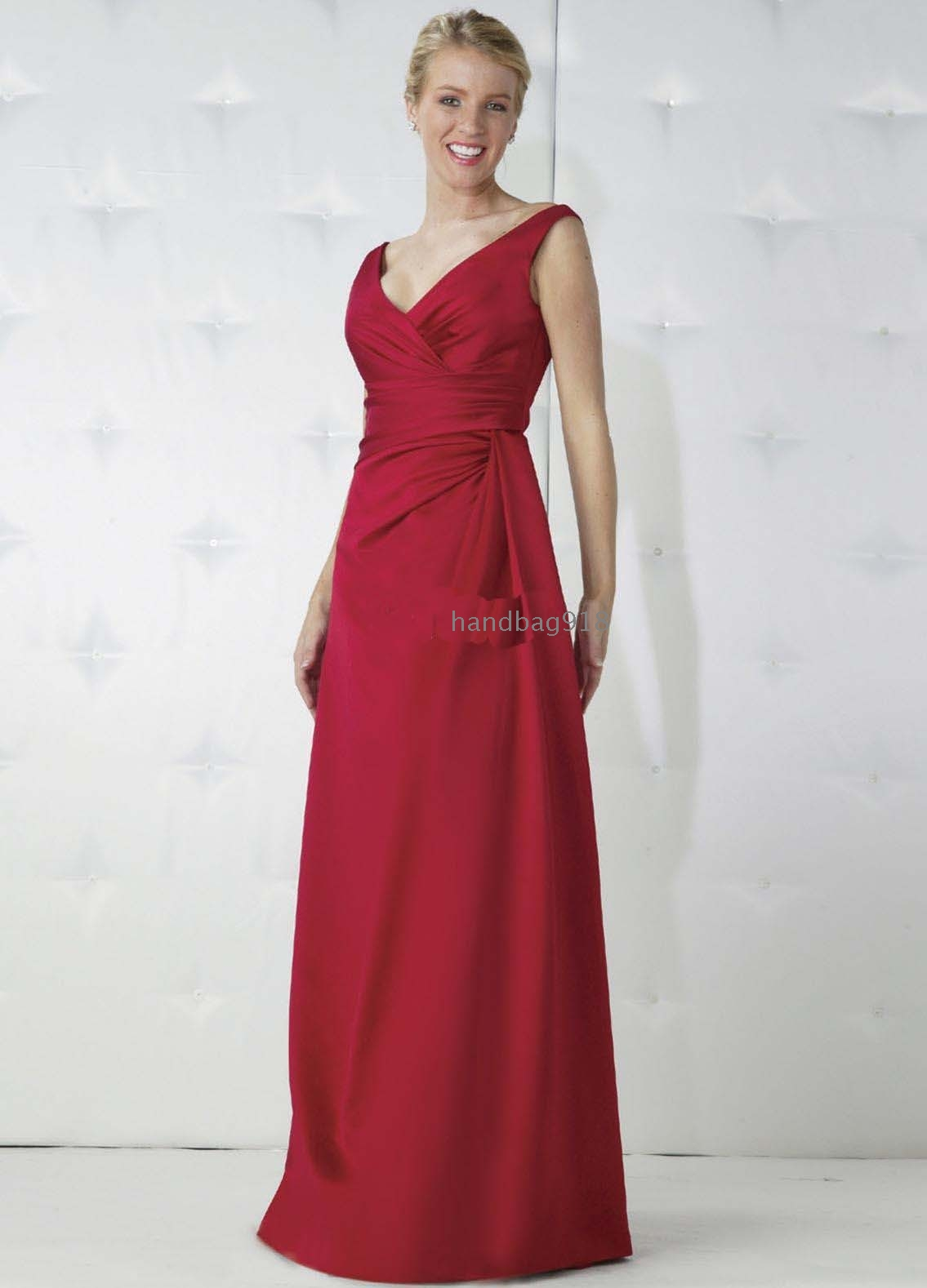 V necklines red ball gown dress evening dress prom for Da vinci red wedding dress